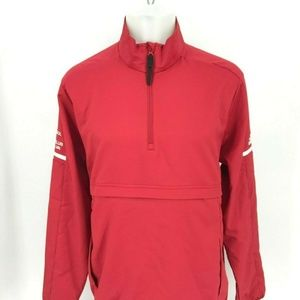 Adidas Men Pull Over 1/4 Zip Sz M 11-16